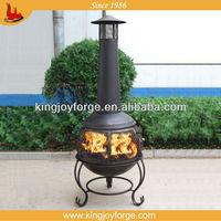 Steel chiminea/360 degree views of fire chimenea/patio chiminea