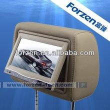 7 inch dvd car headrest dvd video lcd monitor with wireless game ,IR, FM ,usb, digital tv