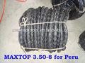 3.50-8 para neumáticos carretilla/rueda de neumático de la carretilla para el peru