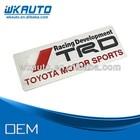 2014 manufacture TRD motor sports 3D aluminum metal car emblem