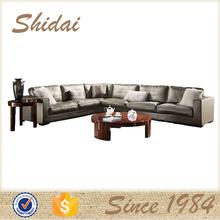 Italiano sofá cenografia, sofá de couro conjunto design, frame de madeira sofá conjunto design 985