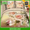 3d flor de algodón impreso sábanas imagen/ropa de cama de algodón conjuntos/casa conjuntos de edredón