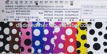 Fashion dots printed synthetic PVC leather for luggage handbag purse etc