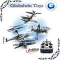 2014 conluio divertido! Rc peixe falcão 360 grau rotação Gyro 2.4 G R / C voador red / plástico hawks rc animais brinquedo voador