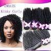 "100g/pc 1b# 12"" 5a unprocessed cheap Mongolian virgin hair afro kinky curly hair 100% Mongolian human hair kinky curly"