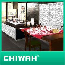 high gloss acrylic wave kitchen cabinets