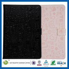 C&T Colorful scrawl animal shape design for ipad mini leather fold cover case