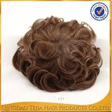 Fashionable black men human hair wigs piece