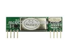 programmable learning code 433mhz rf wireless receiver surper-heterodyne module,