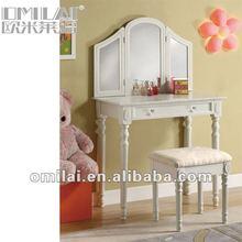 Modern design vanity dressing table mirror stool girl's gift