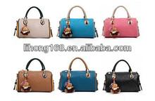 2015hot sell high class fashion lady PU leather handbags brand