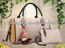 2015 newest style fashion lady big capacity pu wholesale handbag