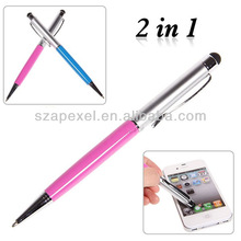 2 in 1 Stylus Pen with Ballpoint Pen for IPad iPod Touch iphone 3G 3GS 4G 4S
