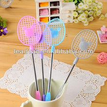 Stock wholesale cheap Badminton racket shape pen advertisement sample