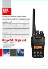 IP67 hot sale PUXING radio PX-568 FM UHF/VHF 5W UHF