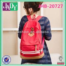 2014 promotion canvas backpack canvas school bag for girls shoulder sport backpack casual bag day