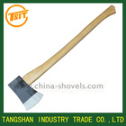 wooden handle outdoor steel axe