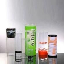 plastic printed PVC gift tube,tube gift boxes,tube gift packaging