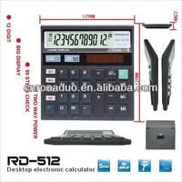 large scientific calculator 12-digit solar check function calculator desk top calculator