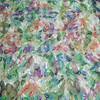 100% polyester interlock knitted fabric printed organza embroidery fabric