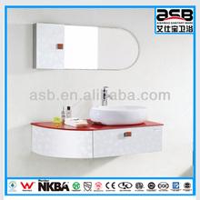 glass top Stainless Steel bathroom vanity storage