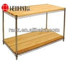 2 Tier New Design Shelf,Wire Shelving with MDF Board----s