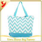 2014 New Trend Chevron Canvas Tote Bag Blue