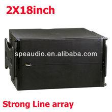 SPE audio dual 18inch pure big line array subwoofer mega bass powerful output