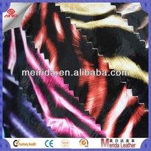 fancy mirror glass leopard print pu pvc leather for handbag