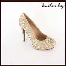 new style jewelled dyeable high heel wedding shoes