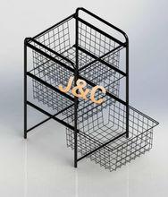 free design towel display rack for bathroom/metal wire bathroom rack/multifunction rack for promotion supermarket