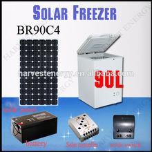 ที่มีคุณภาพสูงระบายความร้อน12v/24vdcคอมเพรสเซอร์br90c4หน้าอกตู้แช่แข็งเซลล์แสงอาทิตย์ขนาดเล็ก