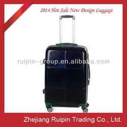2014 hot sale black hard plastic luggage