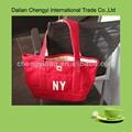 cina borsa di tela elegante colore rosso
