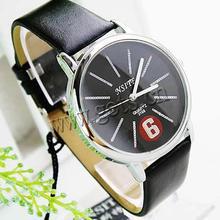 full leather men wrist watch