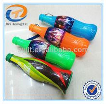 Bottle shape fan plastic football plastic blow horns