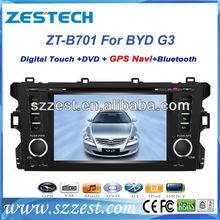 "ZESTECH Dvd gps bluetooth radio 7"" car dvd gps for BYD G3 car dvd gps player"