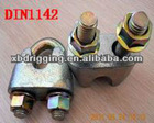 din 1142 malleable wire rope clips/spring steel fastener with high quality made in China manufacturer