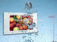 Luxury hotel bathroom waterproof mirror TV for shower