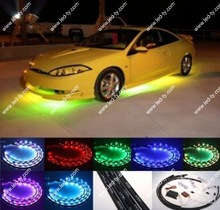 7 Color LED Under Car Glow Underbody System Neon Lights Kit