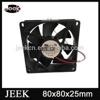 80mm JK8025 Small DC axial cooler fan 4 inch fan