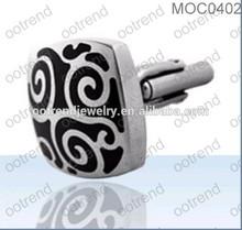 wholesale cufflinks backs,black an texture cufflinks backs