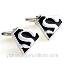 Stainless Steel material metal font S cufflinks font S superman Cufflinks