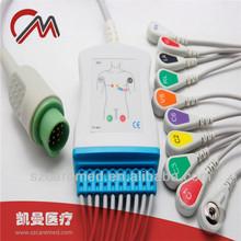 10 Leads Fukuda Denshi ECG/EKG cable,Snap,AHA/IEC