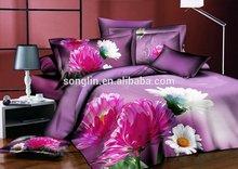 3Pcs Brushed Printed Bedding Set