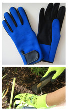 Discount 2mm neoprene garden protection gloves with Amara palm and chemical resistant