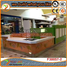 Wooden ice cream kiosk, eco-friendly, lockable cabinets, modern design, for ice display and retail