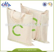 Eco Friendly Fashion Supermarket Bag / Cotton canvas Tote Shopping Bag