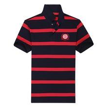 ZYB09 100% cotton,180gsm, rib collar&cuffs,yarn-dyed stripe, short sleeve, men's polo shirt