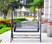 wrought iron luxury comfortable Love Seat outdoor swing bench